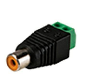 FEMALE RCA CONNECTOR WITH OUTPUT +/-
